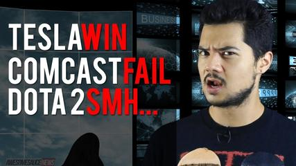 News video: AwesomeSauce News: Comcast Rep Phone Call, Tesla Model III, Leaked Dota 2 Strategy
