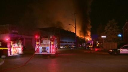 News video: Ontario firefighters battle three-alarm blaze